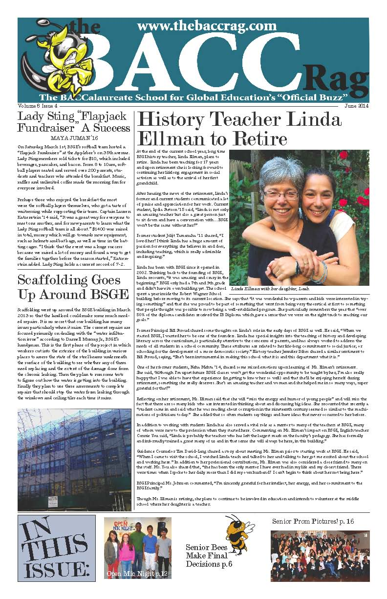 Download June 2014 Issue of the BACC Rag – The Baccalaureate School
