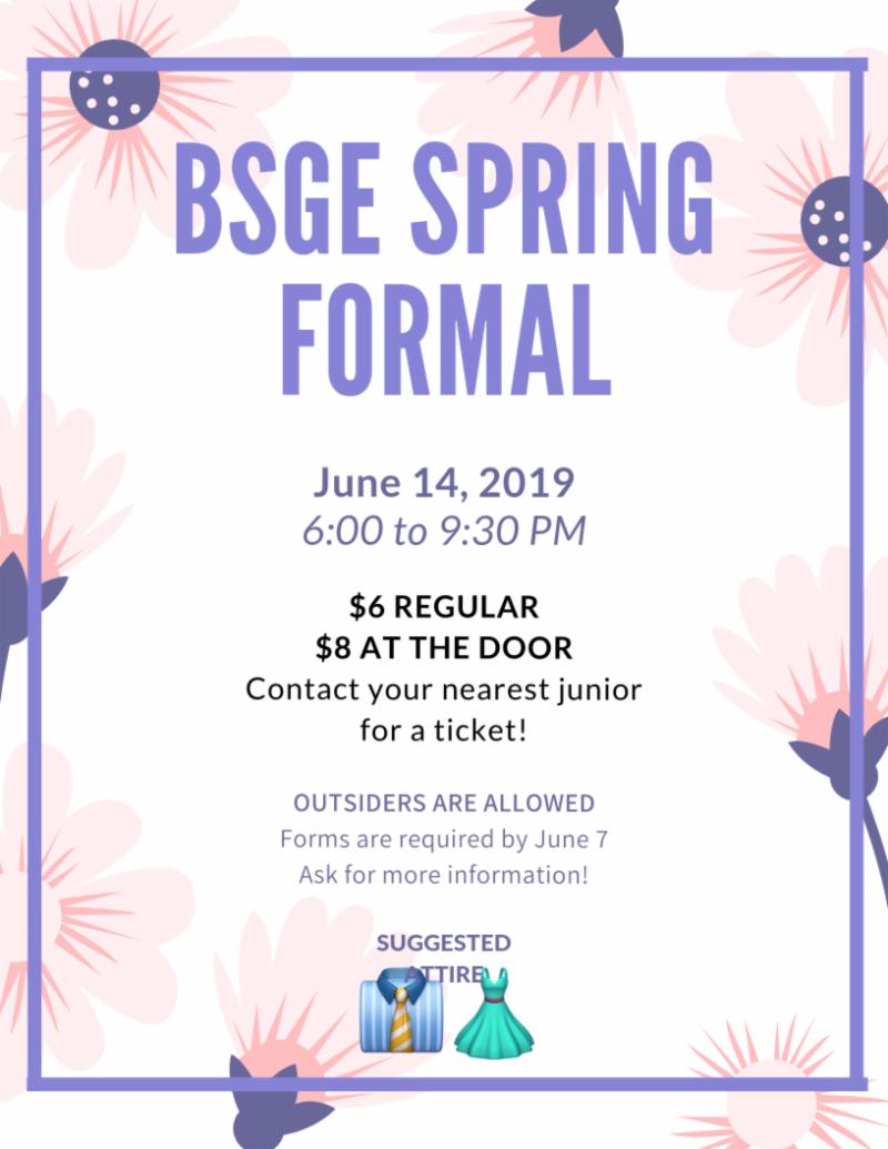BSGE Spring Formal