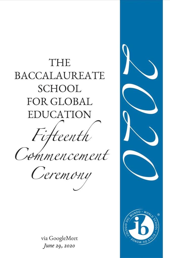 Commencement Program 2020